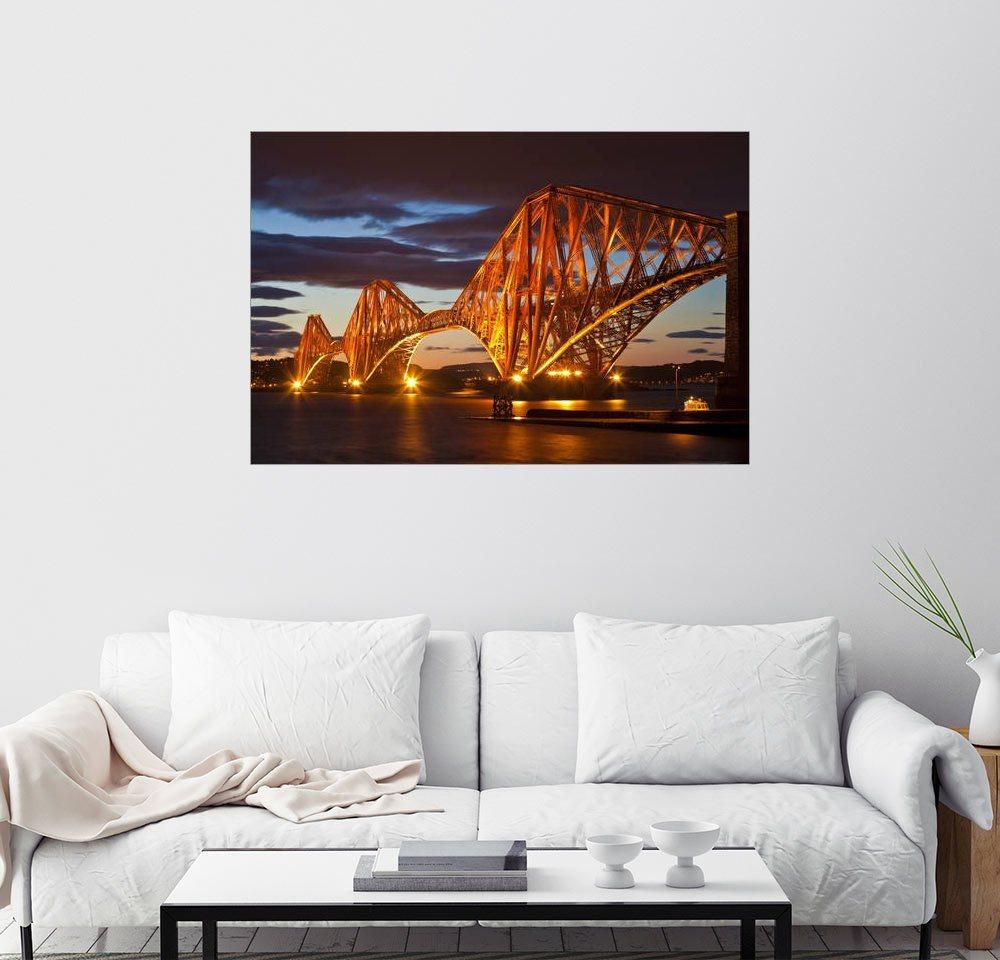Posterlounge Wandbild - Neale Clarke »Forth Rail Bridge, South Queensferry« | Dekoration > Bilder und Rahmen > Bilder | Holz | Posterlounge