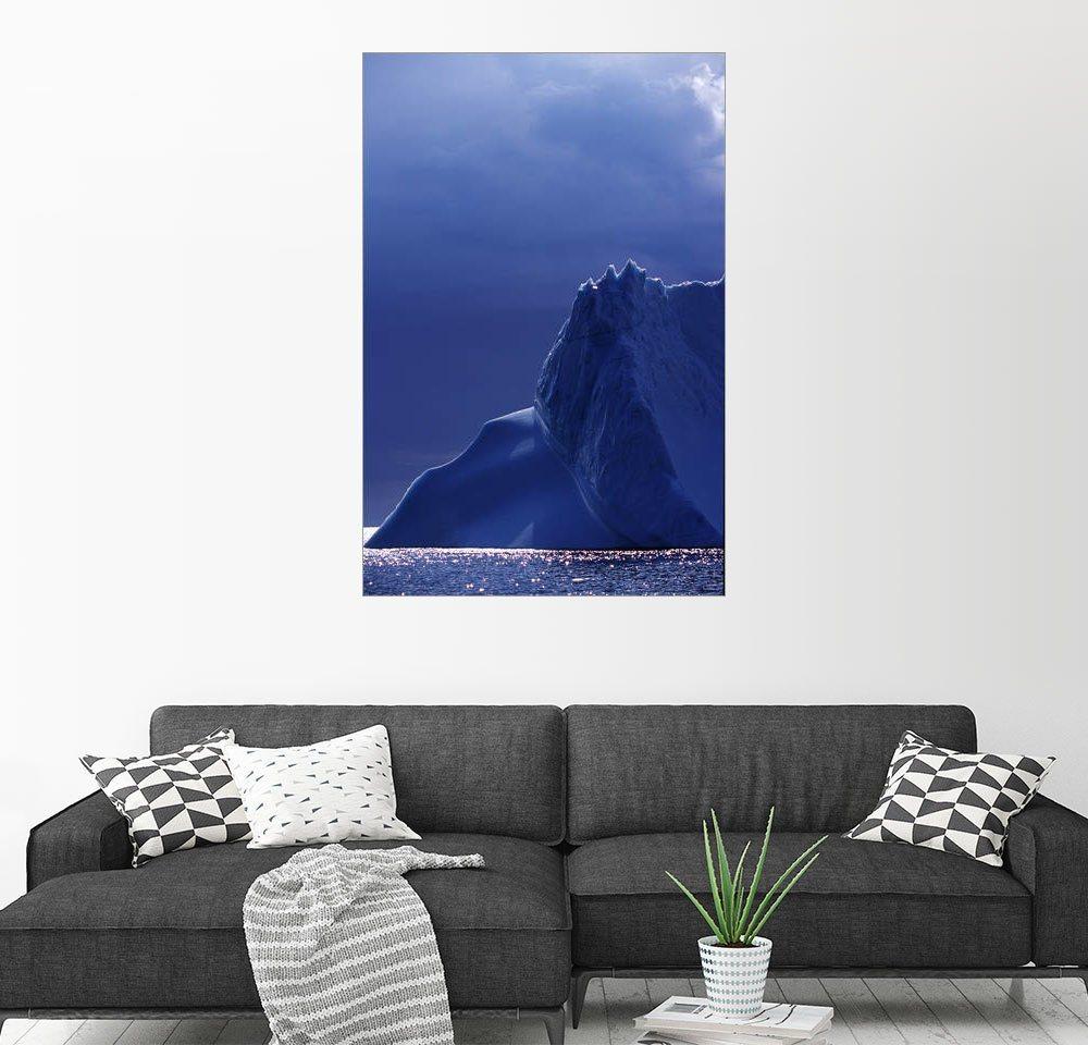 Posterlounge Wandbild - Insight Photography »Eisberg im Mondlicht«