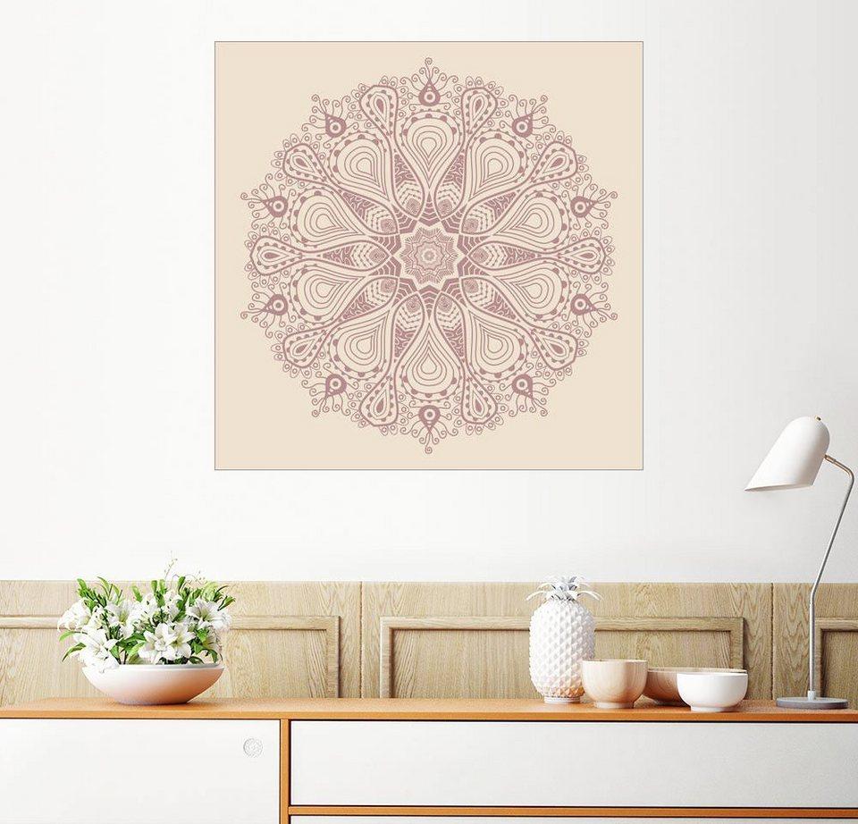 Posterlounge Wandbild Mandala Auf Beige Kaufen Otto