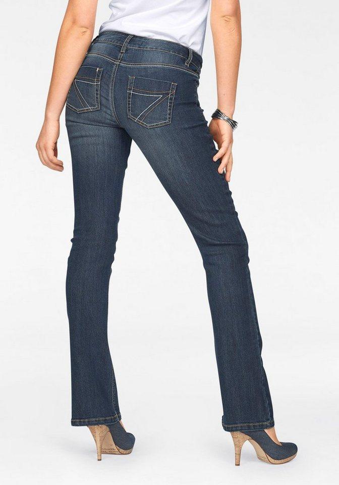 arizona bootcut jeans mit kontrastn hten mid waist online kaufen otto. Black Bedroom Furniture Sets. Home Design Ideas