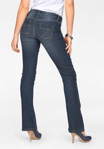 Arizona Bootcut-Jeans »mit Kontrastnähten« Mid Waist