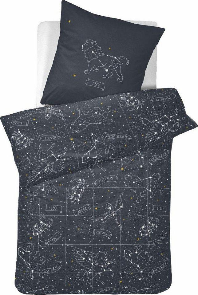 bettw sche zodiac damai leuchtet im dunkeln otto. Black Bedroom Furniture Sets. Home Design Ideas
