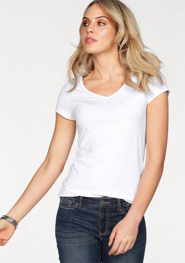 Arizona V-Shirt Rückenprint in Aqarell-Optic