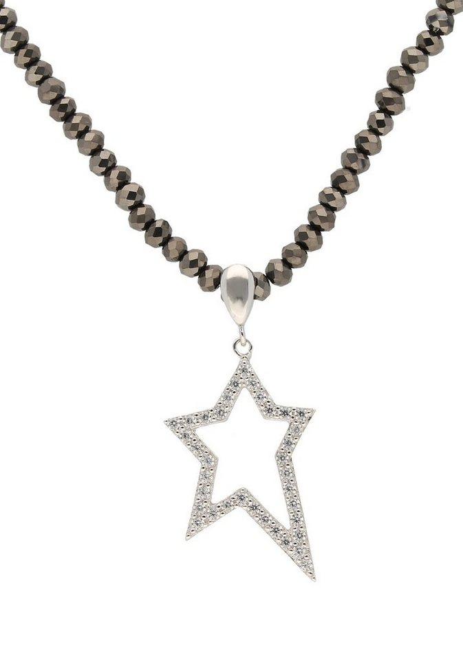 Firetti Kette mit Anhänger »Stern« mit Kristallsteinen und Zirkonia   Schmuck > Halsketten > Ketten mit Anhänger   Grau   Firetti
