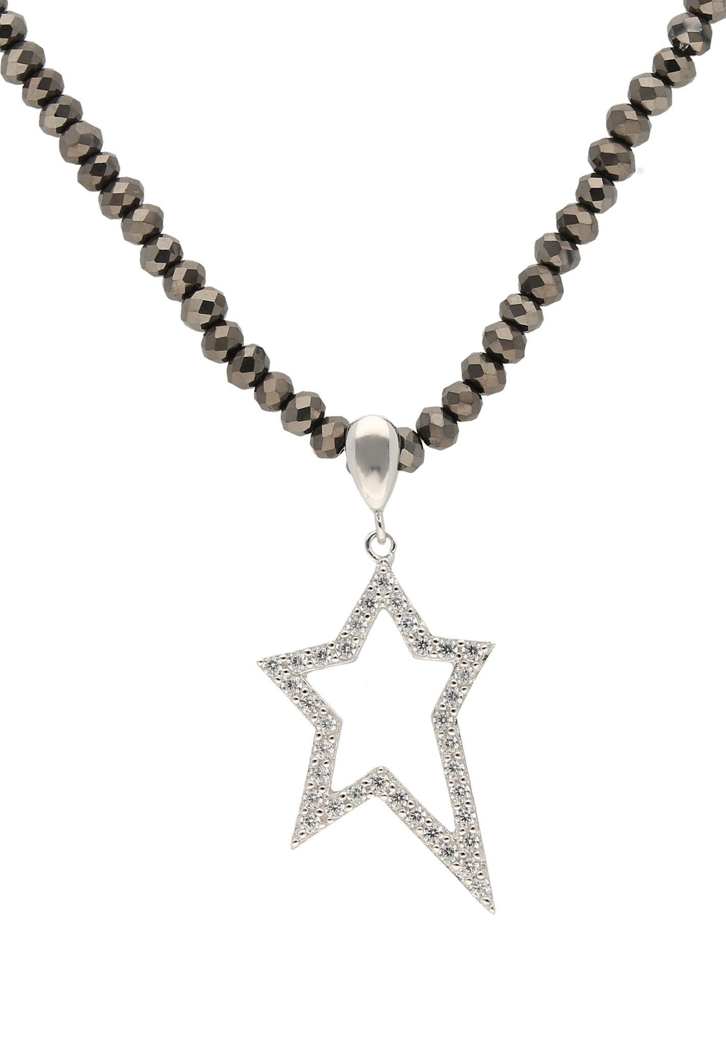 Firetti Kette mit Anhänger »Stern« mit Kristallsteinen und Zirkonia