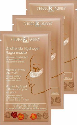 CHIARA AMBRA Augenmaske »Straffende Hydrogel Augenmaske«, 3-tlg.