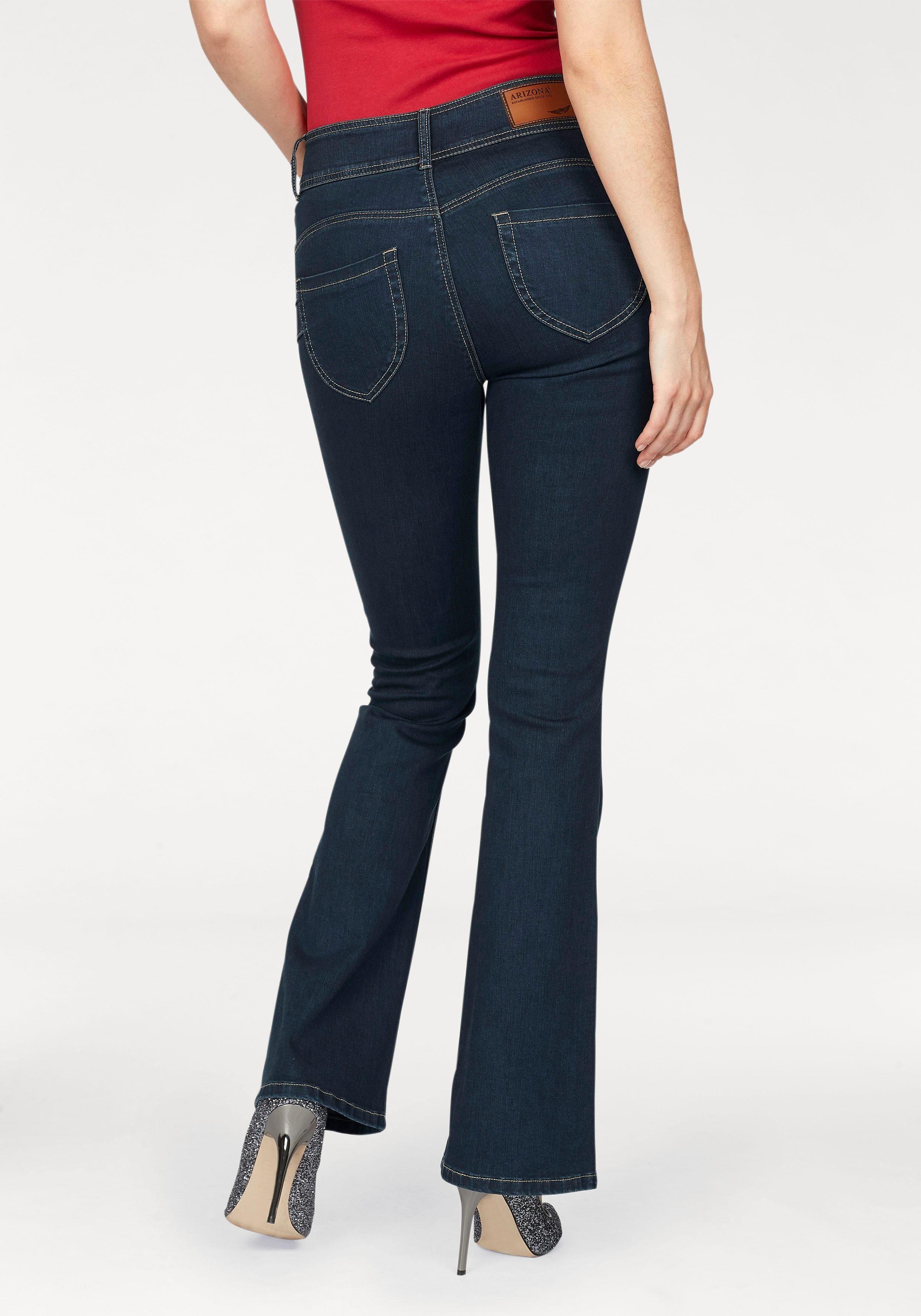 ARIZONA HIGH WAIST Bootcut Jeans Gr.34 40 NEU Damen Hose