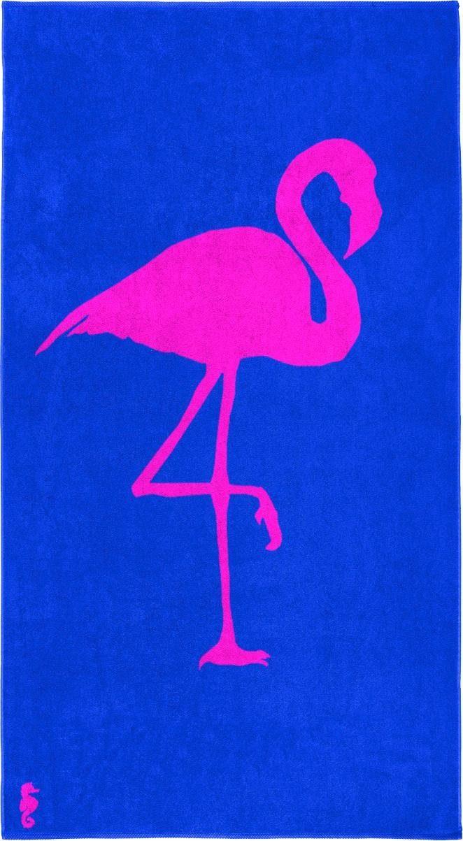 Strandtuch »Flamingo«, Seahorse, mit einem Flamingo