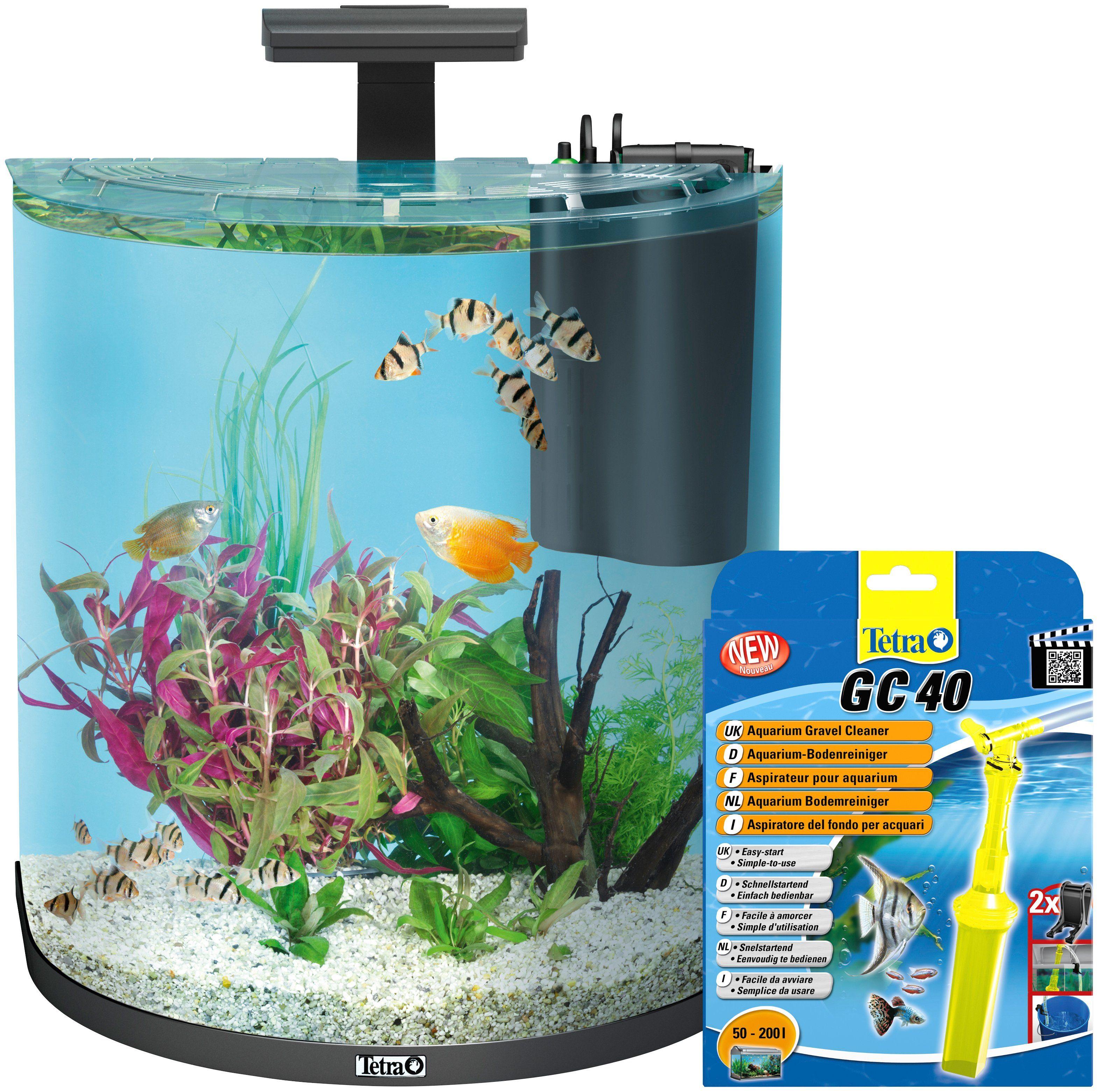 TETRA Aquarien-Set »AquaArt LED Explorer Line«, anthrazit, 60 Liter, inkl. GC 40 Bodenreiniger