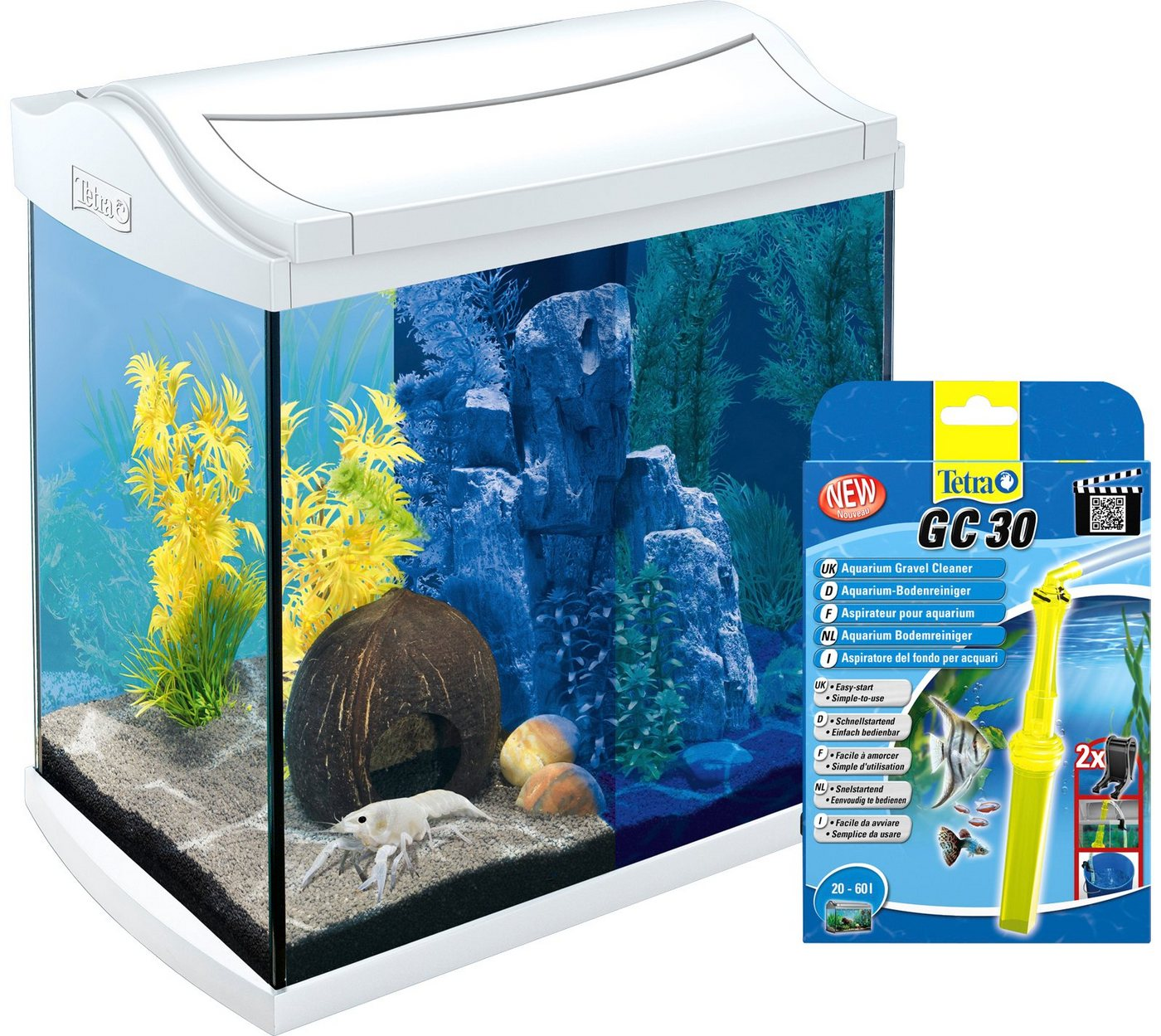 TETRA Aquarien-Set »AquaArt LED«, weiß, 30 Liter, inkl. GC 30 Bodenreiniger - Preisvergleich