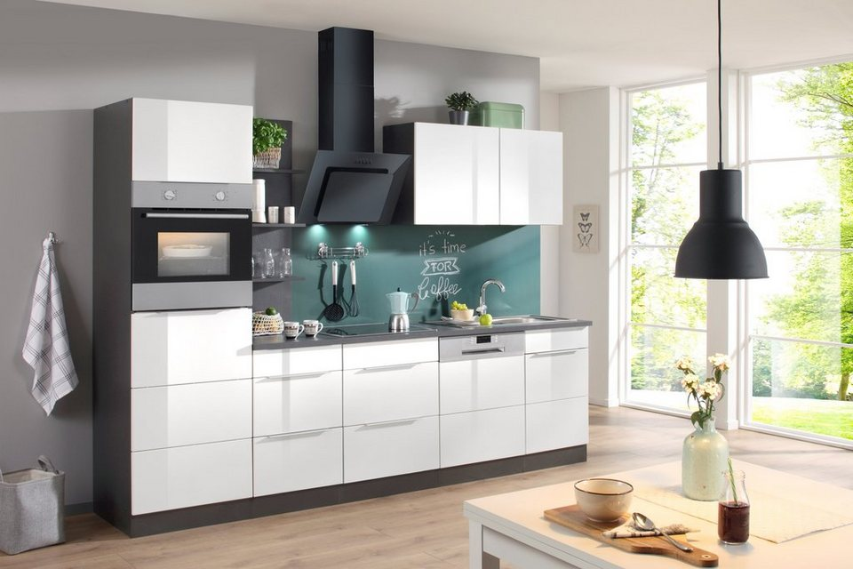 Küchenzeile mit E-Geräten »Brindisi, Breite 280 cm« online kaufen | OTTO