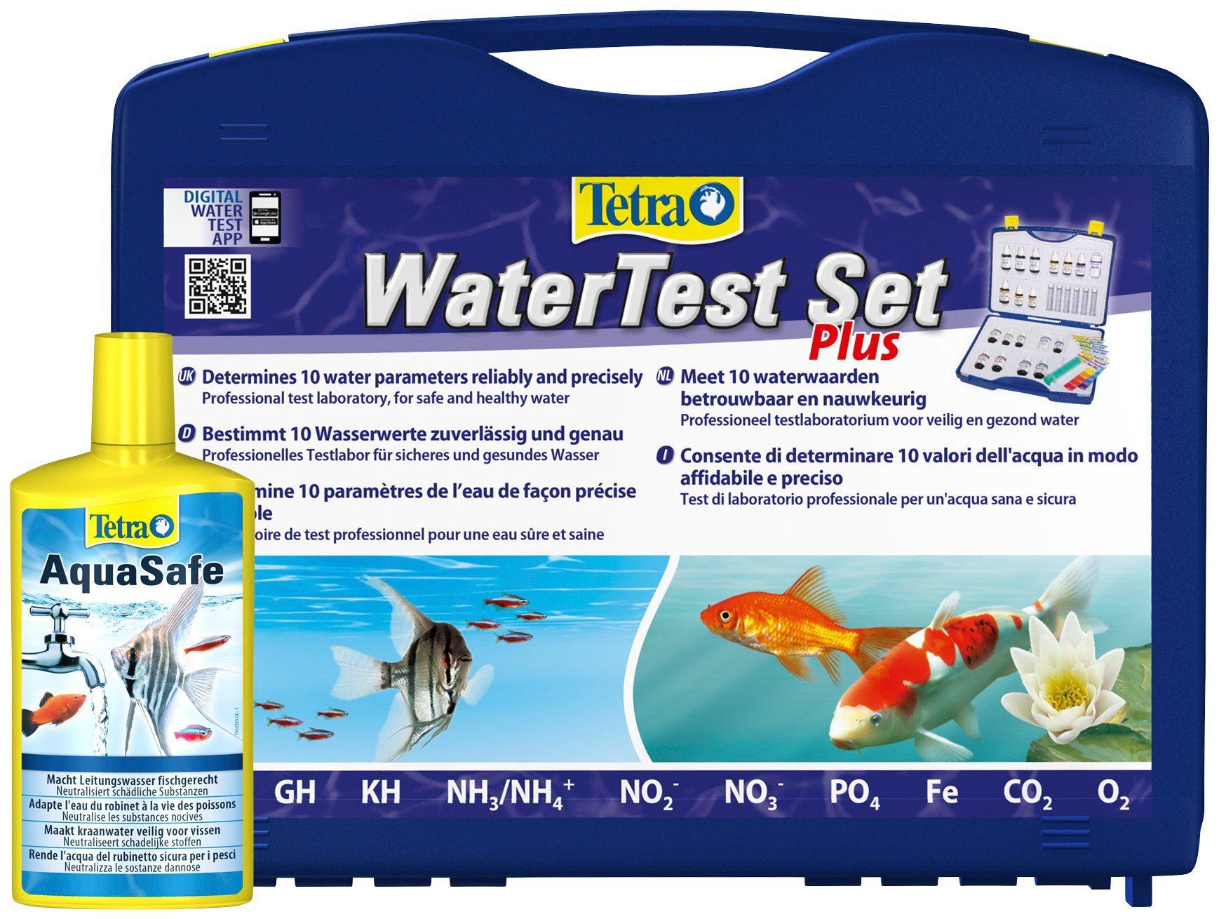 TETRA Aquariumpflege , Wasser Test Set Plus, inkl. AquaSafe 500ml
