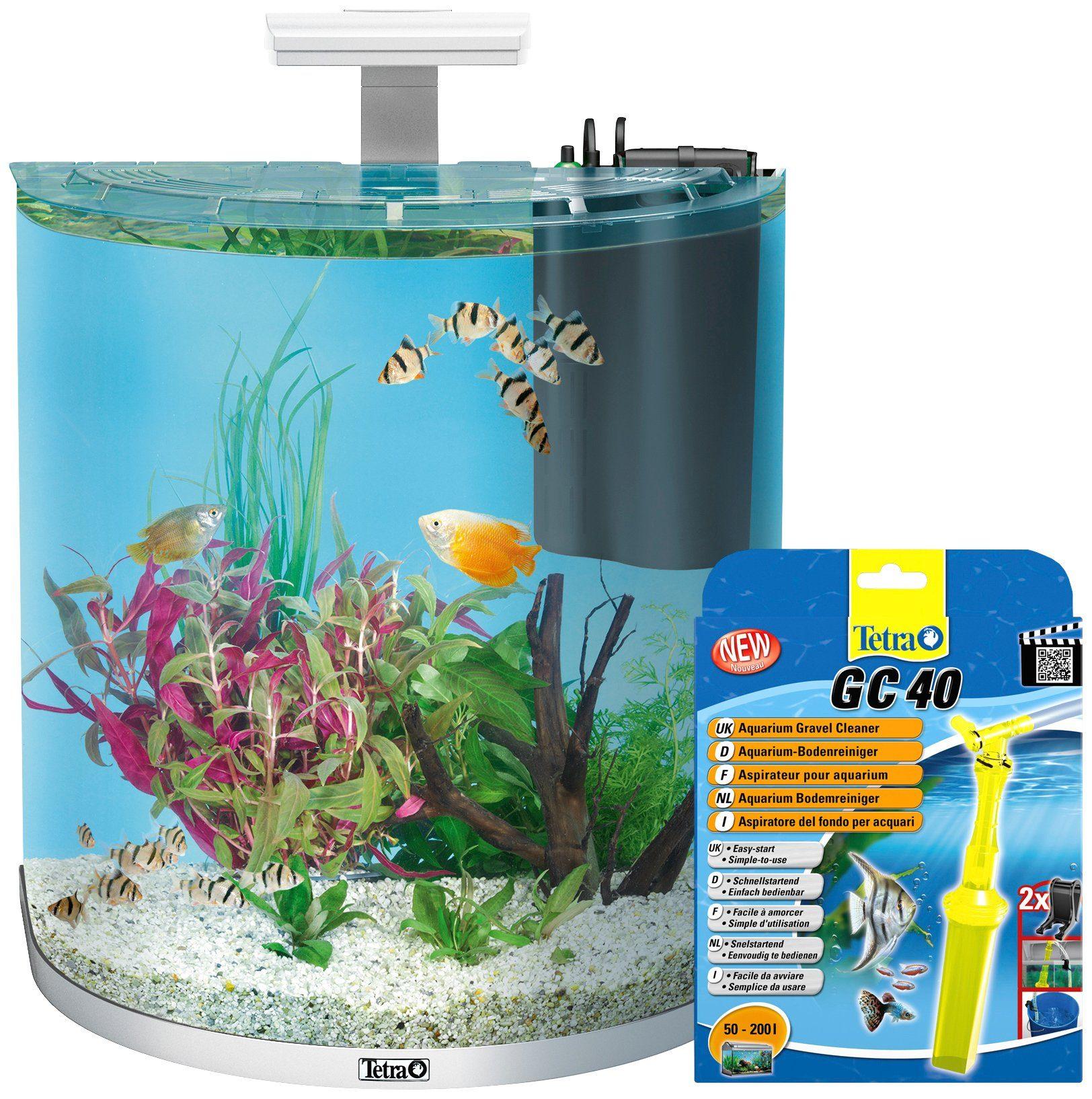 TETRA Aquarien-Set »AquaArt LED Explorer Line«, weiß, 60 Liter, inkl. GC 40 Bodenreiniger