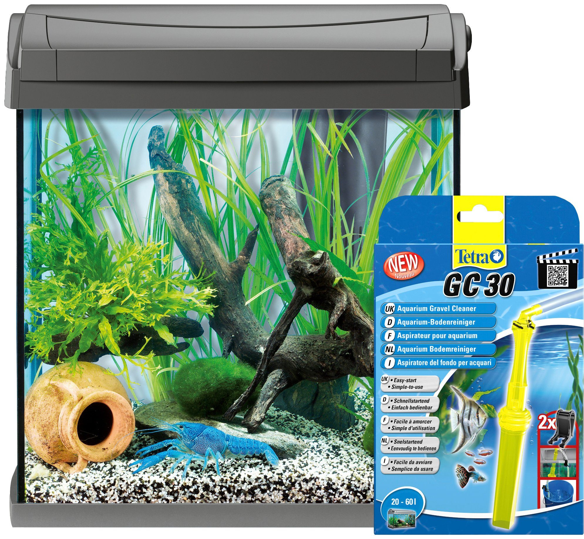 TETRA Aquarien-Set »AquaArt LED«, anthrazit, 30 Liter, inkl. GC30 Bodenreiniger