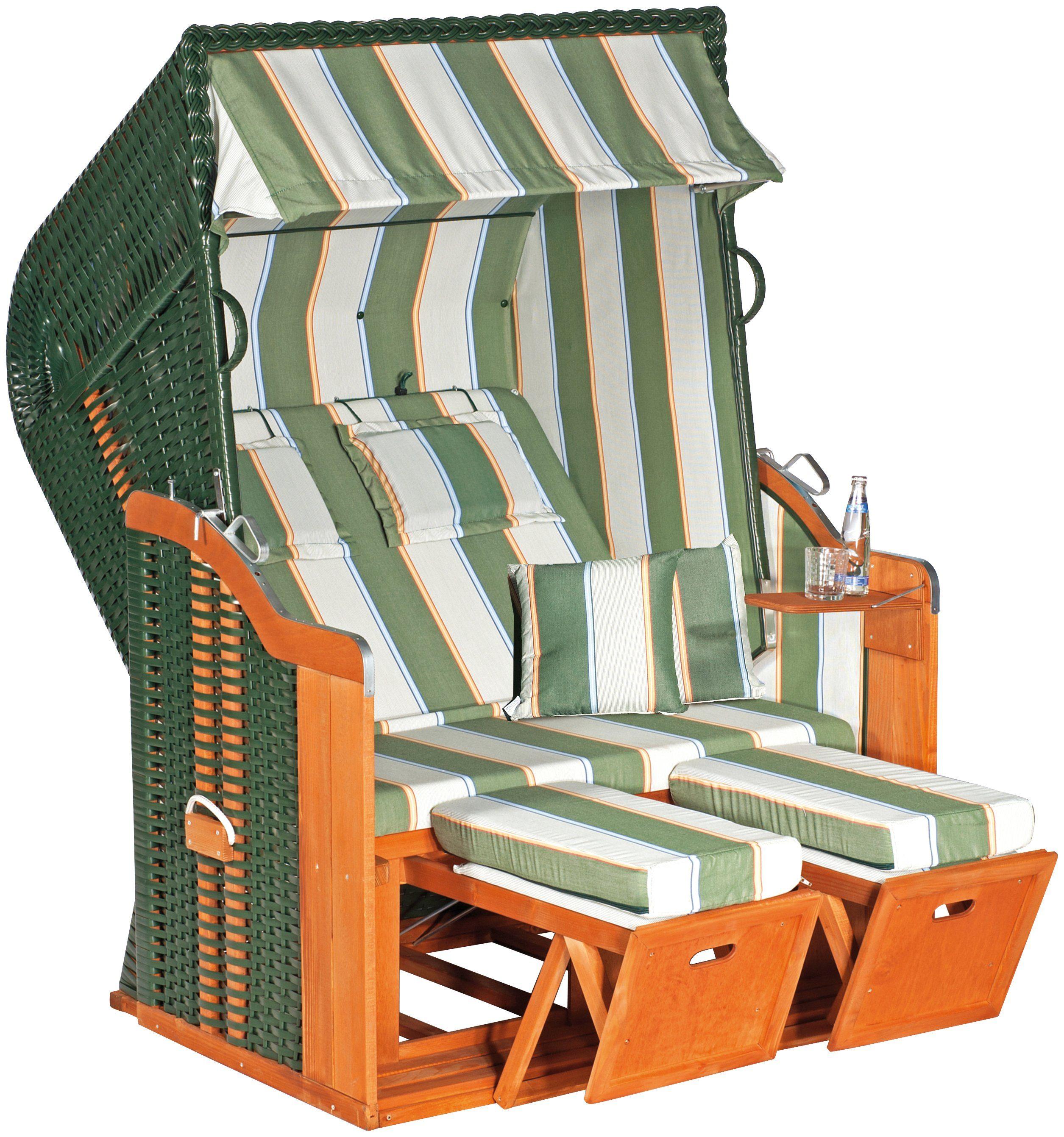 SUNNY SMART Strandkorb »Rustikal 250 Plus 1202«, BxTxH: 125x90x160 cm, grün