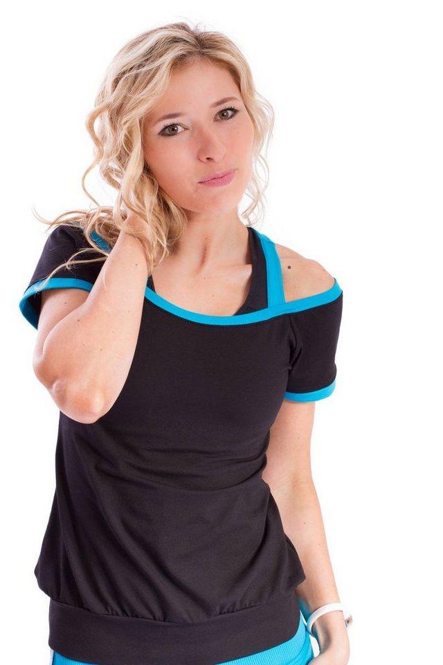 Winshape 2-in-1-Shirt »WTR5« Cut-Out-Look | Bekleidung > Shirts > 2-in-1 Shirts | Schwarz | Winshape