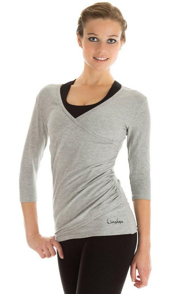 Winshape Wickelshirt »WS3« ¾-Arm | Bekleidung > Shirts > Wickelshirts | Grau | Winshape