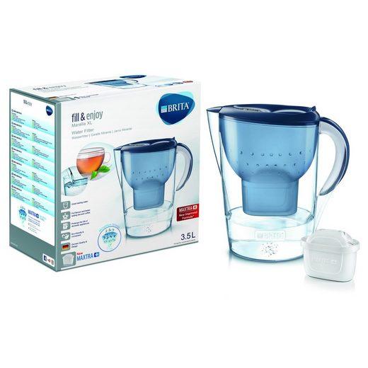 BRITA Wasseraufbereiter »Tischwasserfilter Marella XL Inkl. Maxtra Kartusch«, 3.5 l, Wasserfilter