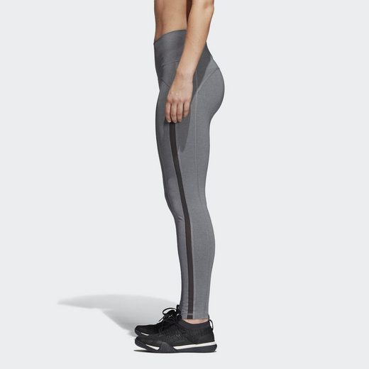 adidas Performance Leggings Believe This High-Rise Heathered Mesh Tight