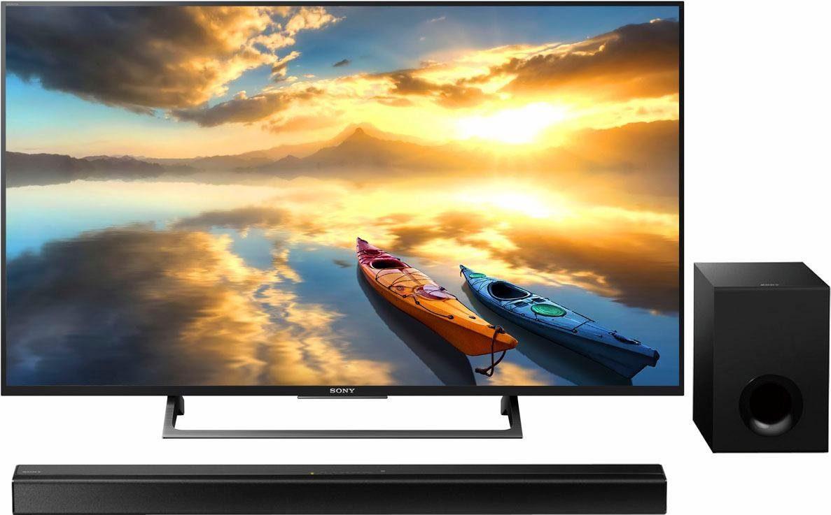 Sony Sparset KD55XE7005 + Soundbar HTCT80 LED-Fernseher (55 Zoll, 4K Ultra HD, Smart-TV)