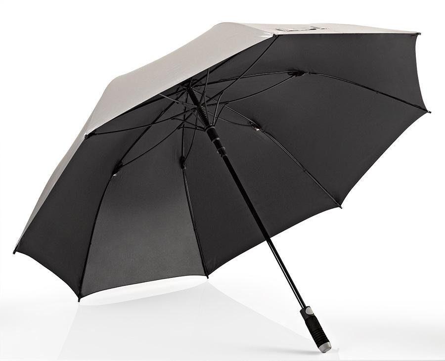 Euroschirm® Regenschirm für Zwei, »Stockschirm birdiepal® automatic, silber«