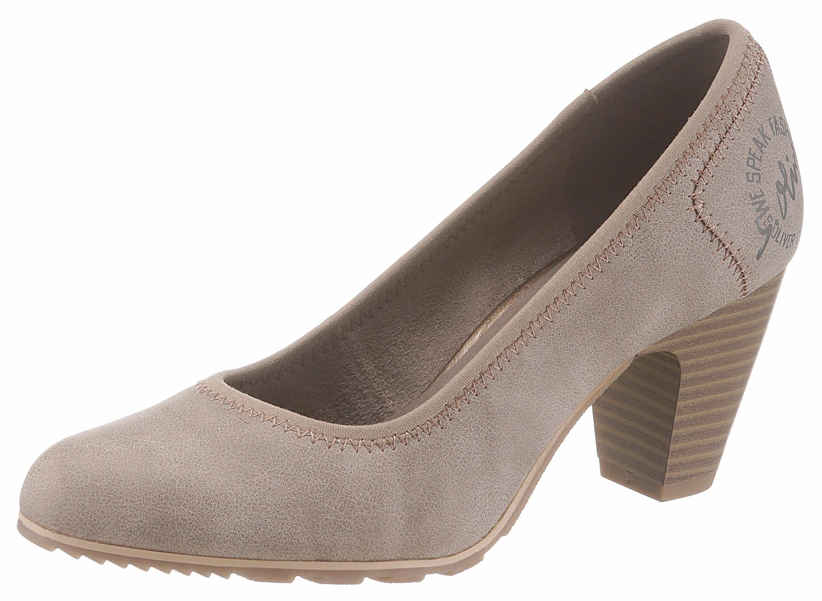 sOliver RED LABEL Pumps, mit Elastikeinfass  taupe