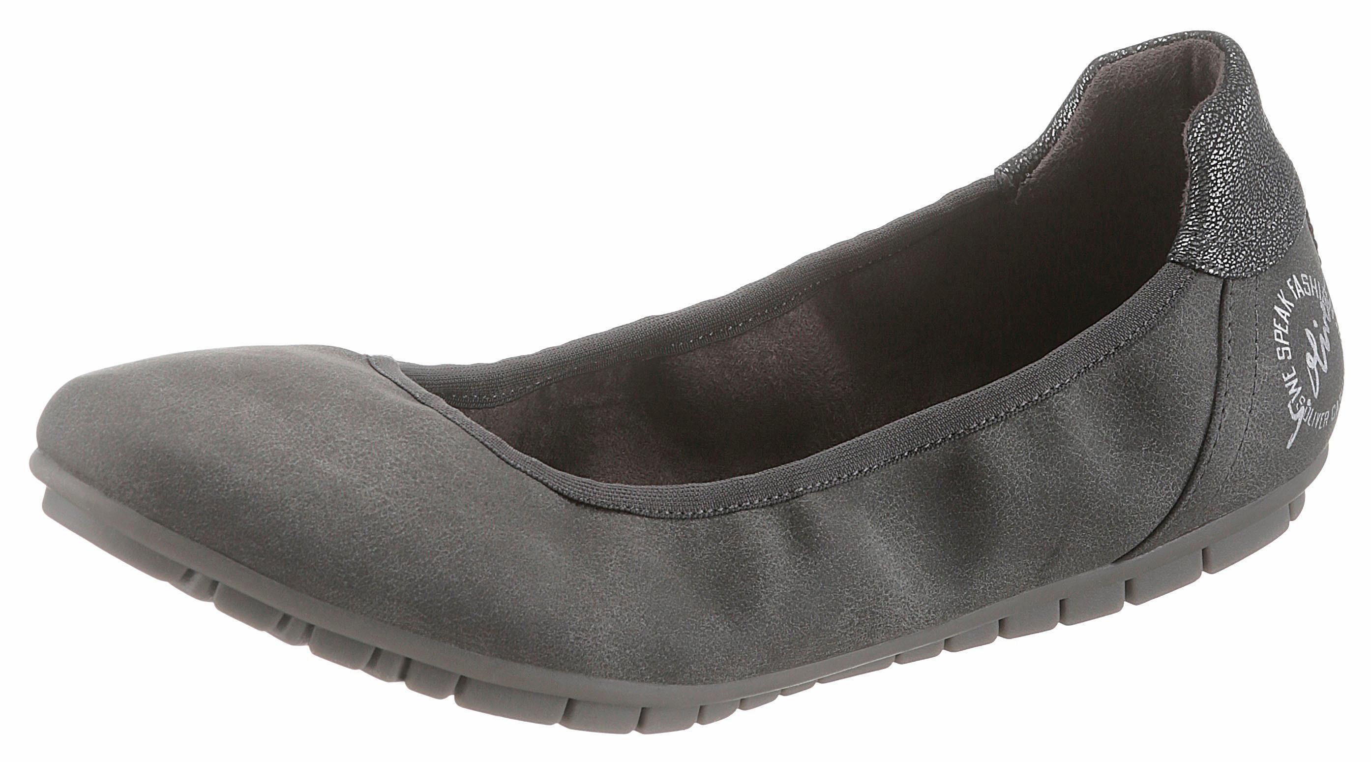 sOliver RED LABEL Sneaker Ballerinas, mit sOliver Soft Foam Ausstattung online kaufen  grau