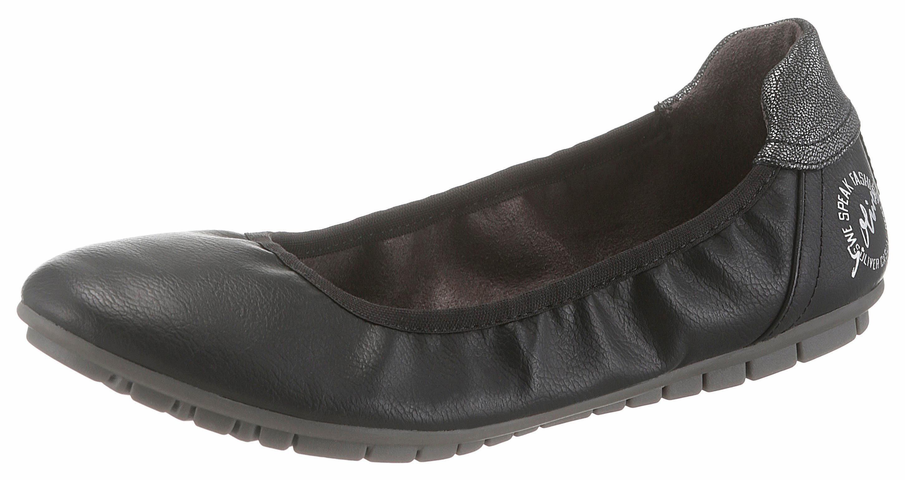 sOliver RED LABEL Sneaker Ballerinas, mit sOliver Soft Foam Ausstattung online kaufen  schwarz