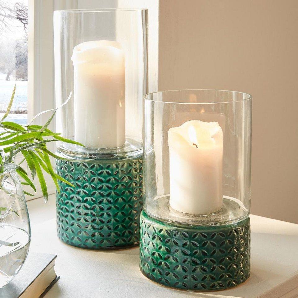 windlicht orly gr n dekorativer kerzenhalter online kaufen otto. Black Bedroom Furniture Sets. Home Design Ideas