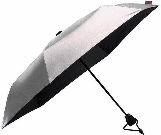 Euroschirm Taschenregenschirm »light trek® ultra, silber«, Mit UV-Lichtschutzfaktor 50+