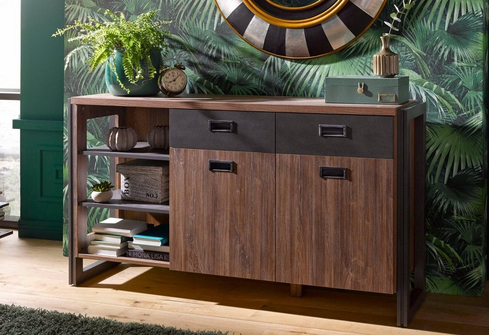 home affaire sideboard detroit breite 150 cm im angesagten industrial look online kaufen otto. Black Bedroom Furniture Sets. Home Design Ideas