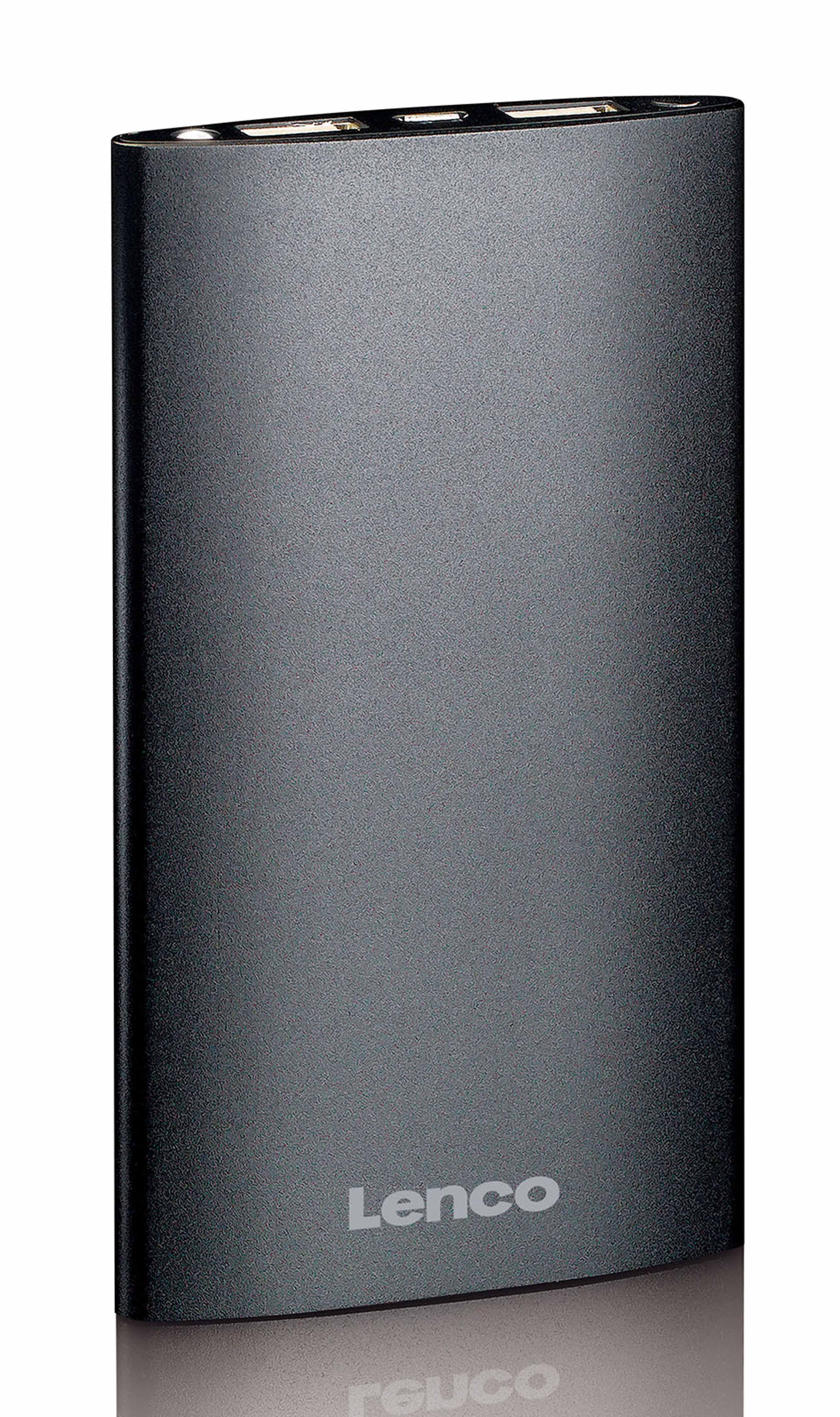 Lenco Powerbank - Akkupack mit Status-LEDs & Taschenlampe »PB-610«