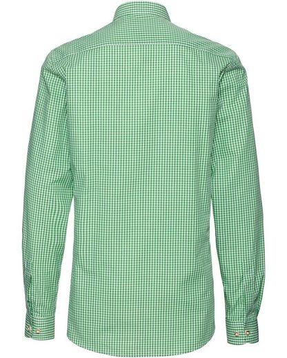 Almsach Stehkragenhemd mit Biesen