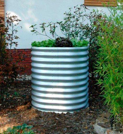 VITAVIA Hochbeet »Curve 858«, LxBxH: 82x82x86 cm, Aluminiumfarben