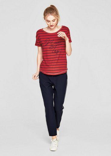 s.Oliver RED LABEL Ringelshirt mit Glitzer-Stitching
