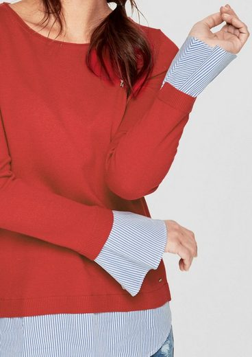 s.Oliver RED LABEL Pullover im 2-in-1-Look