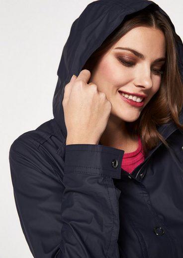 Comma Coat With Zip-off Hood
