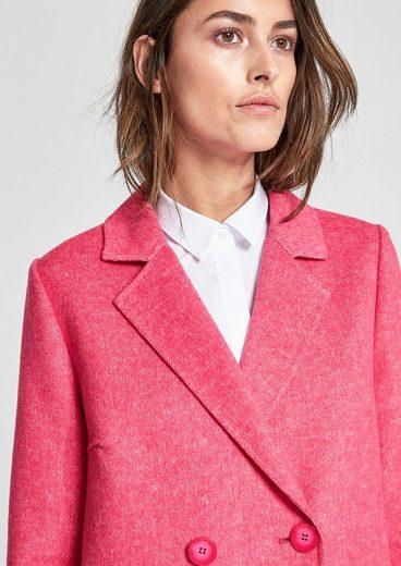 s.Oliver BLACK LABEL Oversized Mantel aus Wollmix