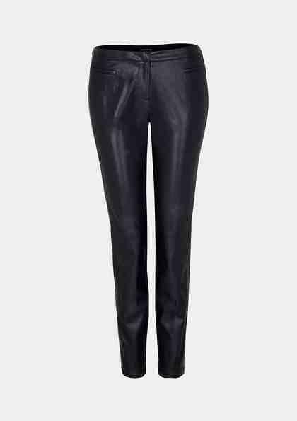 COMMA Extravagante Pants aus Lederimitat