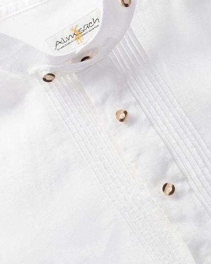 Almsach Leinen-Stehkragenhemd Slim