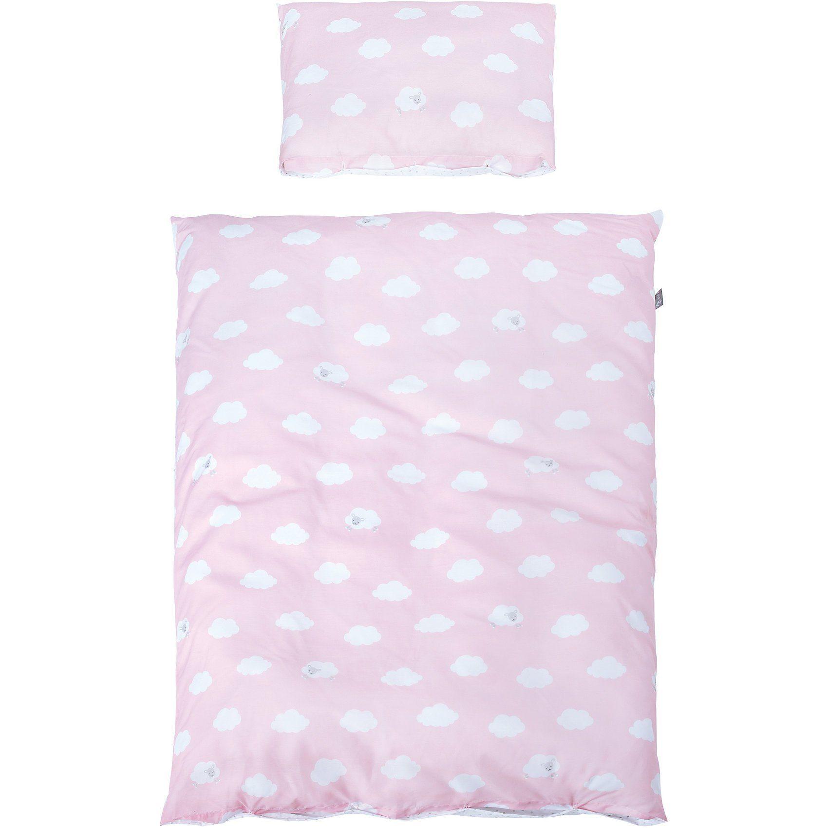 Roba® Kinderbettwäsche Kleine Wolke, rosa, 100 x 135 cm