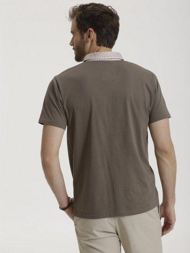 Babista Poloshirt mit blumigem Button-Down-Kragen