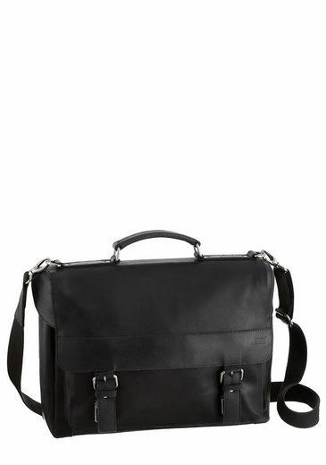Jost Messenger Bag NARVIK, aus Leder mit gepolstertem Laptopfach