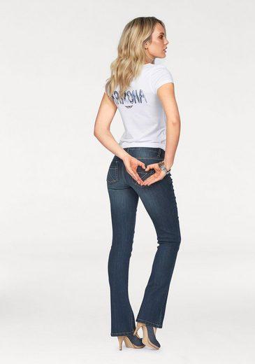 »mit Mid Kontrastnähten« jeans Waist Arizona Bootcut zFqExRR