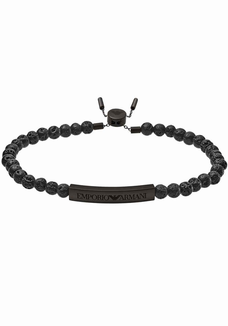 Emporio Armani Armband »HERITAGE, EGS2478001«, mit Lavasteinen