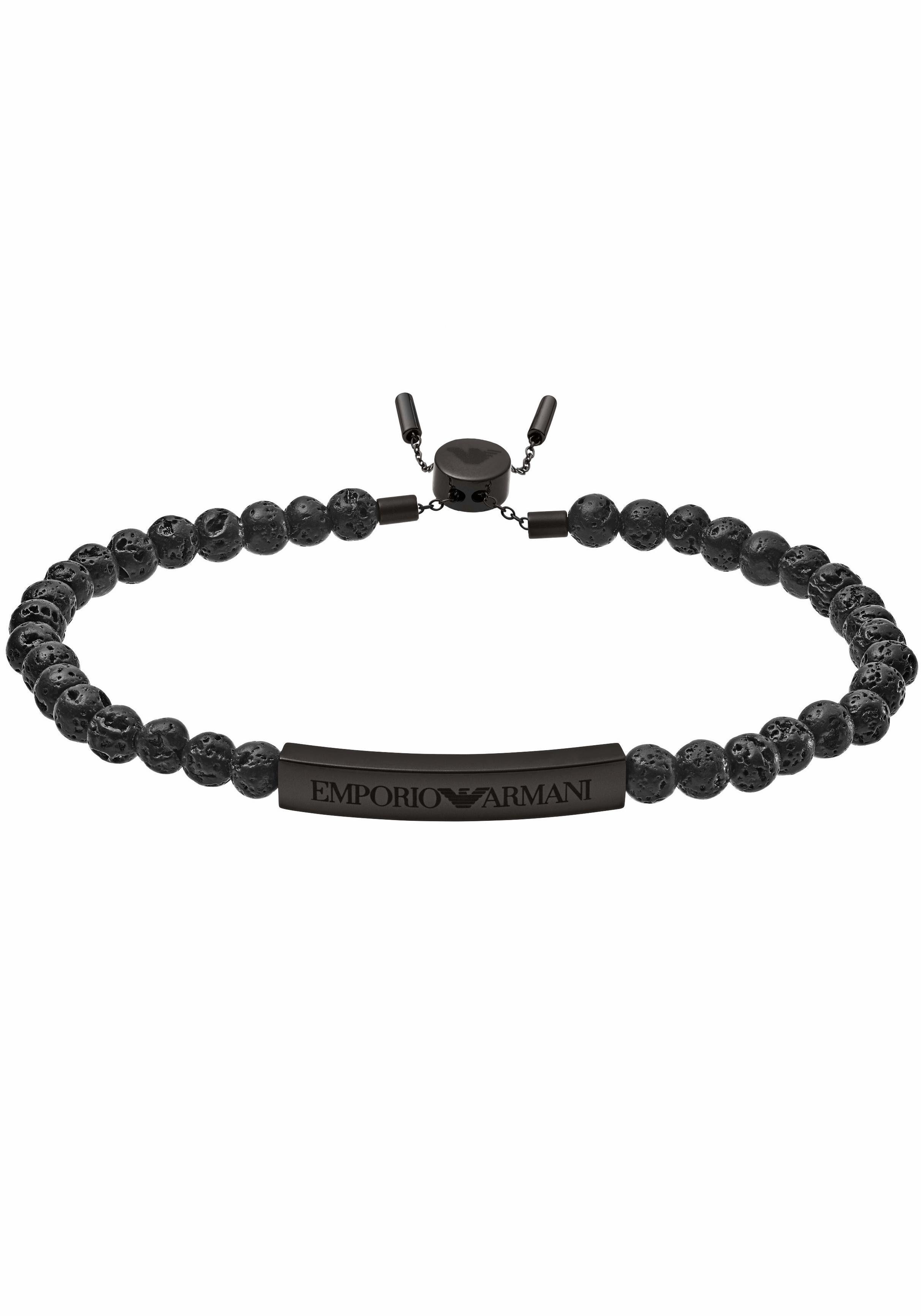 Emporio Armani Armband »HERITAGE, EGS2478001« mit Lavasteinen