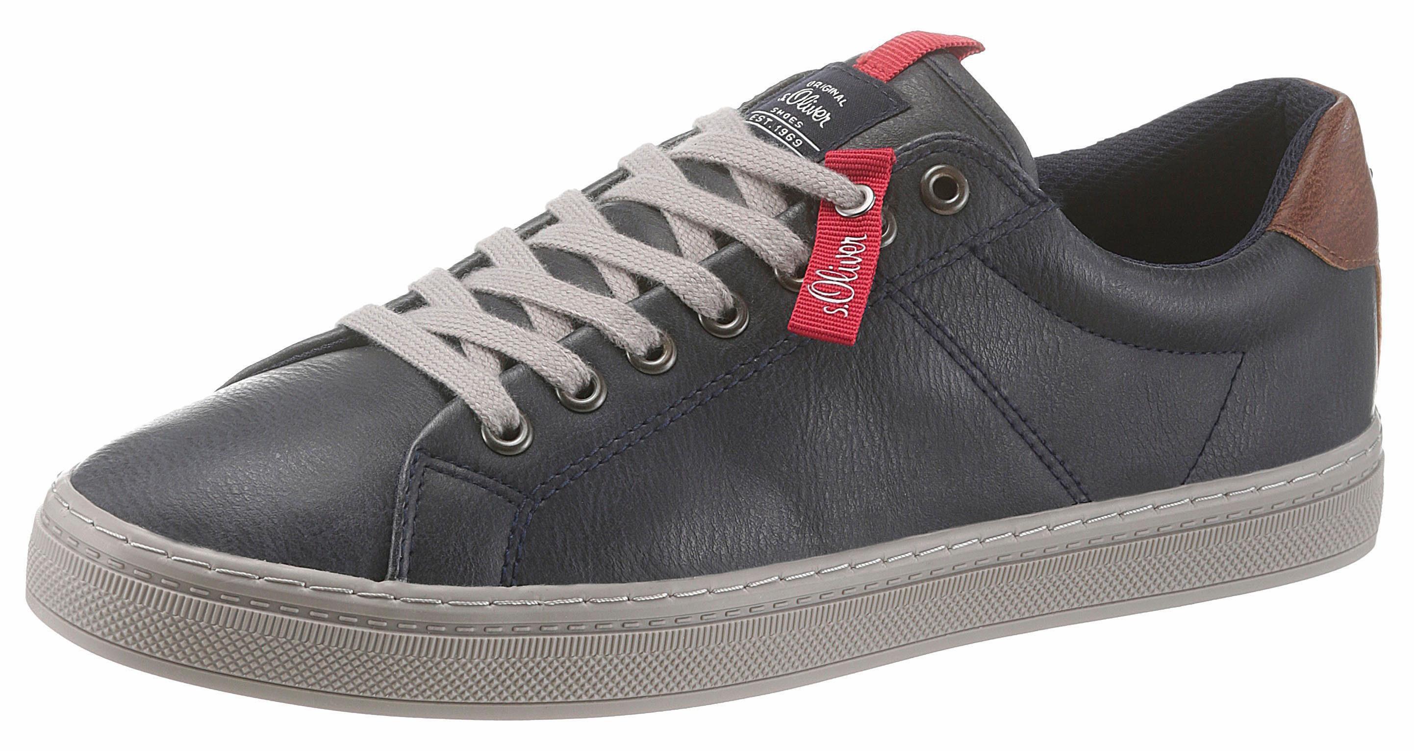 sOliver RED LABEL Sneaker, mit modischem Stitching an der Ferse online kaufen  navy