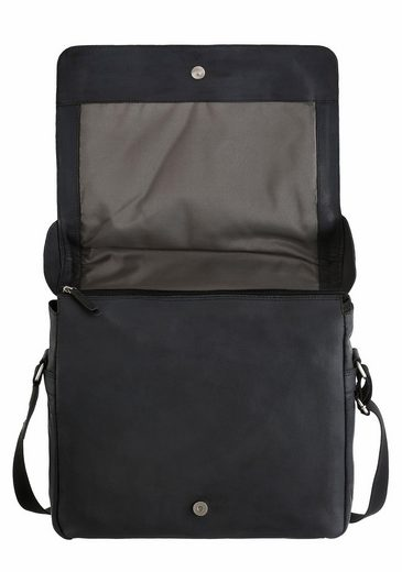 Jost Messenger Bag Narvik, Of Leather With Padded Laptofach