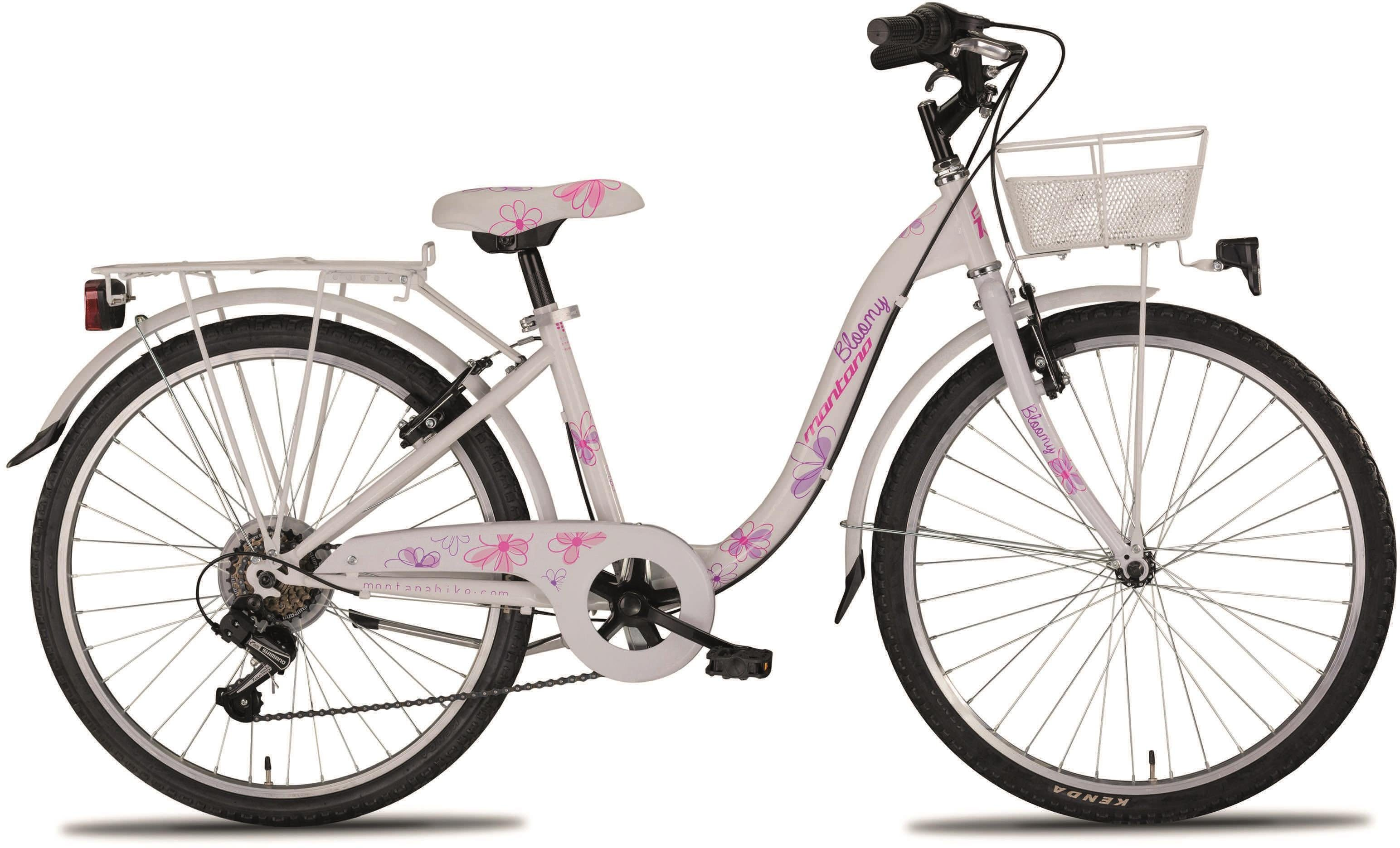 "Montana Fahrräder Cityrad »24"" BLOOMY«, 6 Gang Shimano TY-21 Schaltwerk, Kettenschaltung"