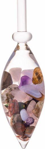 VitaJuwel Mineralstein »Edelsteinphiole Five Elements«, Amethyst/Chalcedon/verst. Holz/Rosenquarz/Ozean Jaspis